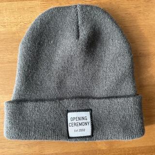 オープニングセレモニー(OPENING CEREMONY)のOpening Ceremony ロゴパッチニット帽(ニット帽/ビーニー)