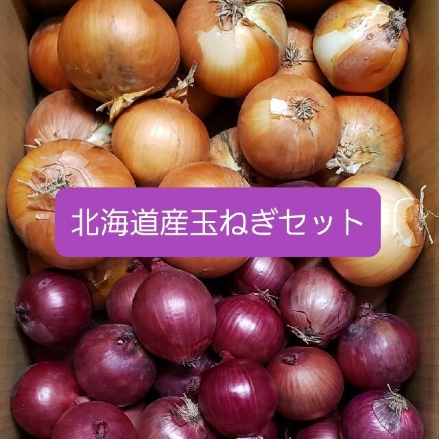 北海道産 玉ねぎ+赤玉ねぎ【アーリーレッド】 セット 各5キロ約10キロ 食品/飲料/酒の食品(野菜)の商品写真