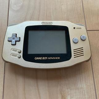 ゲームボーイアドバンス(ゲームボーイアドバンス)のゲームボーイアドバンス ゴールド 本体(携帯用ゲーム機本体)