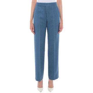 セリーヌ(celine)のタグ付新品 Celine セリーヌ FW18 ウール パンツ 40 ブルー(カジュアルパンツ)