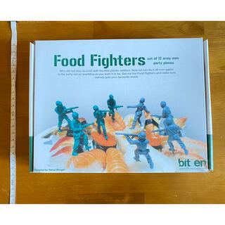 【未使用】bittenフードピック food fighter アーミー(弁当用品)