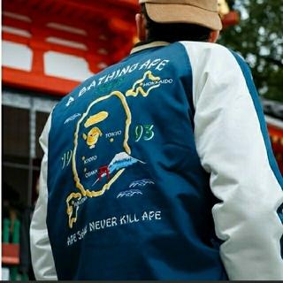 アベイシングエイプ(A BATHING APE)のA BATHING APE JAPAN SOUVENIR JACKET Lサイズ(スカジャン)