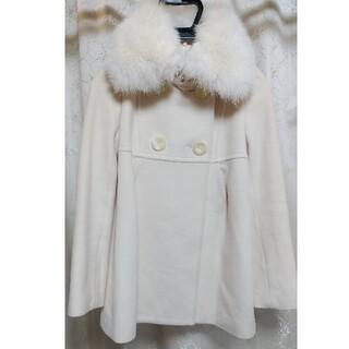 イプダ(epuda)のepuda フォックスファー付きドールコート オフホワイト 36 Sサイズ(ロングコート)