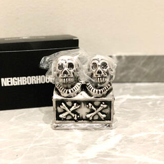 NEIGHBORHOOD - NEIGHBORHOOD BOOZE DUAL SKULL  黒