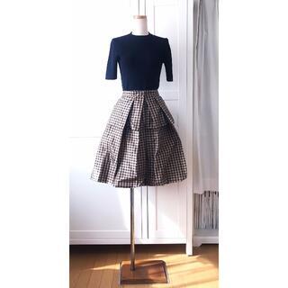 サンローラン(Saint Laurent)のイヴサンローラン Yves Saint-Laurent シルク 巻スカート 34(ひざ丈スカート)