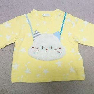 ナルミヤ インターナショナル(NARUMIYA INTERNATIONAL)のベビーチアー 猫ちゃんトレーナー90(Tシャツ/カットソー)