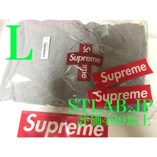 シュプリーム(Supreme)のグレー L 20AW Supreme Cross Box Logo パーカー ②(パーカー)