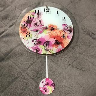 フランフラン(Francfranc)のFrancfranc 花柄掛け時計 大人気★(掛時計/柱時計)