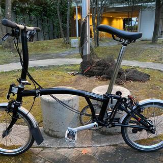 ブロンプトン(BROMPTON)の2020年製 ブロンプトン S6L ブラック最上位モデル 美品Brompton (自転車本体)