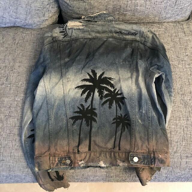 Saint Laurent(サンローラン)のAMIRI パームツリー ジャケット メンズのジャケット/アウター(Gジャン/デニムジャケット)の商品写真