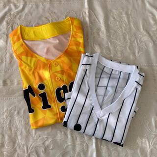 ハンシンタイガース(阪神タイガース)の阪神タイガース 応援シャツ2枚(応援グッズ)