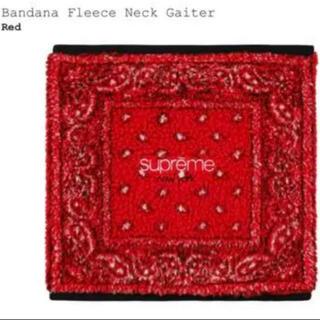 シュプリーム(Supreme)のSupreme Bandana Fleece Neck Gaiter Red(ネックウォーマー)