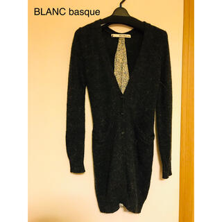 ブランバスク(blanc basque)の【後ろリボン】BLANC basque カーディガン 美品!(カーディガン)