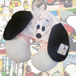 スヌーピー(SNOOPY)のスヌーピー  フード付き ネックピロー 枕 クッション(旅行用品)