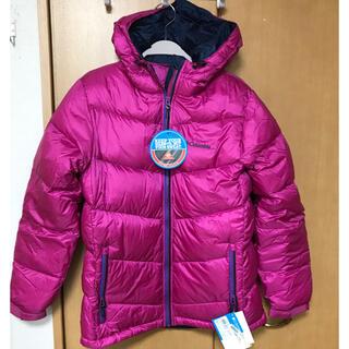コロンビア(Columbia)の新品 コロンビア ダウンジャケット ピンク×ネイビー L(ダウンジャケット)