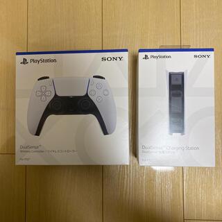 プレイステーション(PlayStation)のPS5 ワイヤレスコントローラー と 充電スタンド セット 未開封新品(その他)