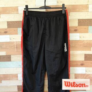 ウィルソン(wilson)の【wilson】 美品 ウィルソン ブラックジャージ ボトムス サイズL(ジャージ)