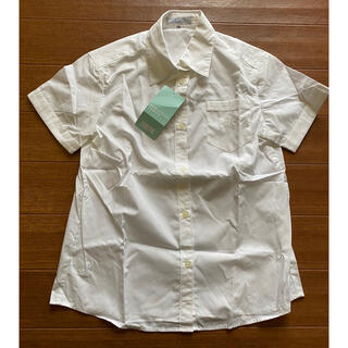 クミキョク(kumikyoku(組曲))の新品 クミキョク 白 半袖 ブラウス TM 140 150 発表会 制服(ブラウス)