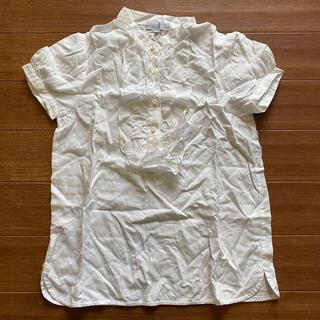 クミキョク(kumikyoku(組曲))の美品 クミキョク 半袖 白 ブラウス TM 140 150 フリル(ブラウス)