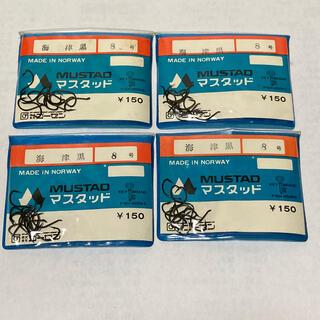 ゴーセン(GOSEN)のマスタッド製 海津黒 8号 4袋セット(釣り糸/ライン)