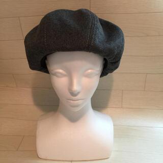 センスオブプレイスバイアーバンリサーチ(SENSE OF PLACE by URBAN RESEARCH)の【美品&人気】 SENSE OF PLACE.グレー帽子(ハンチング/ベレー帽)
