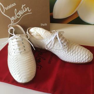 クリスチャンルブタン(Christian Louboutin)の新品 ルブタン パイソン ローファー(ローファー/革靴)