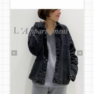アパルトモンドゥーズィエムクラス(L'Appartement DEUXIEME CLASSE)のりこ様専用 L'A pparteNment ブラック デニム ジャケット(Gジャン/デニムジャケット)