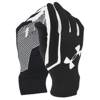 UNDER ARMOUR - 34%オフ アンダーアーマー LG ブラック ホワイト グローブ 手袋 防寒