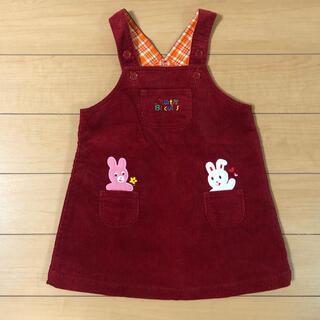 ホットビスケッツ(HOT BISCUITS)の美品ホットビスケッツ 90cm コーデュロイジャンパースカート (ワンピース)