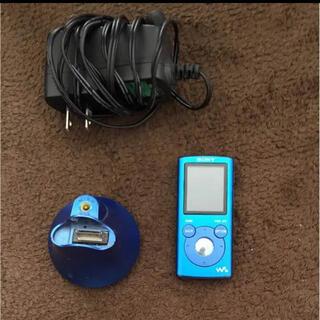 ウォークマン(WALKMAN)のSONY ウォークマン NW ブルー 4G スピーカー付き(ポータブルプレーヤー)