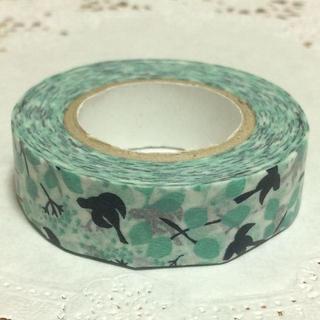 点と線模様製作所 メッセージバード マスキング ブルー(テープ/マスキングテープ)