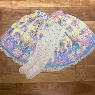 アンジェリックプリティー(Angelic Pretty)のWrapping Heartのスカートとニーハイソックスセット(その他)