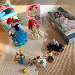ディズニー(Disney)の【送料込】アリエル ウエディング フィギュア ドール 4個 最終値下げです(アニメ/ゲーム)