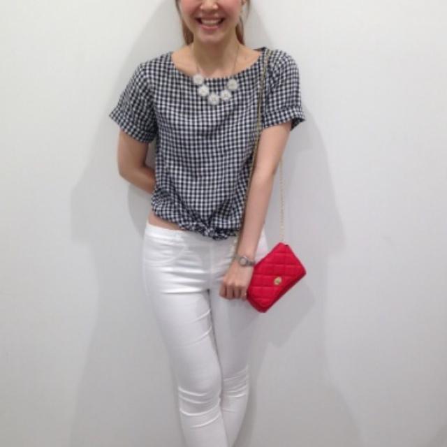 GU(ジーユー)の新品 ギンガムチェックリネンシャツ レディースのトップス(シャツ/ブラウス(半袖/袖なし))の商品写真