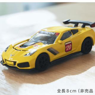 ボーネルンド(BorneLund)のボーネルンド 限定非売品 siku社シボレーコルベットZR1 ミニカー 黄色(ミニカー)
