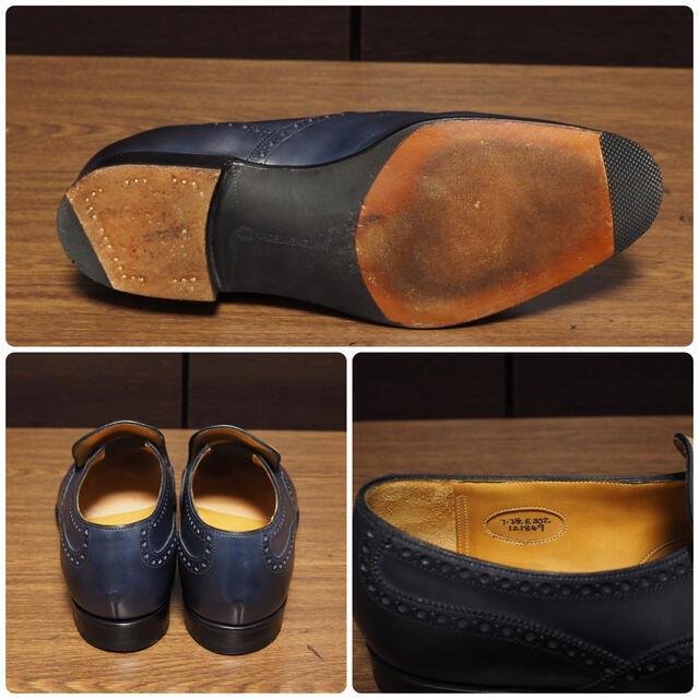 EDWARD GREEN(エドワードグリーン)のEDWARD GREEN 7E 202 ネイビー Wigmore メンズの靴/シューズ(ドレス/ビジネス)の商品写真