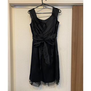 エニィスィス(anySiS)のANYsis パーティードレス ブラック(ミディアムドレス)
