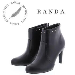 RANDA - 大人気‼️RANDA スタッズ スムースレザー ショートブーティー