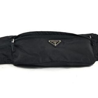 プラダ(PRADA)のプラダ ウエストポーチ美品  - 黒 ナイロン(ボディバッグ/ウエストポーチ)