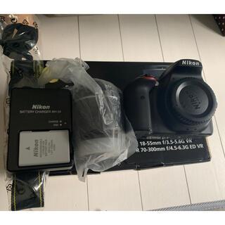 ニコン(Nikon)のNikon D3400 レンズキット(デジタル一眼)