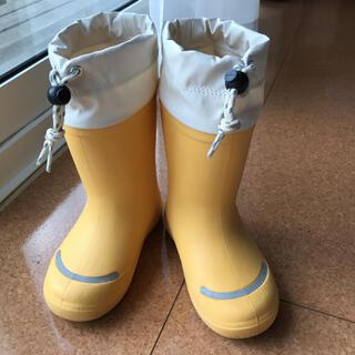 ムジルシリョウヒン(MUJI (無印良品))の無印良品 長靴 レインブーツ キッズ イエロー 18-19(長靴/レインシューズ)