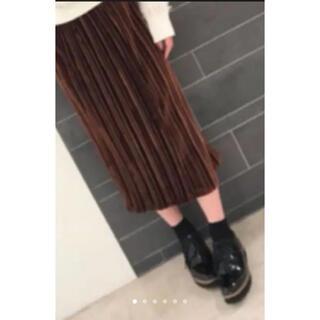 ビッキー(VICKY)の美品❤️ベロアスカート❤️ビッキー❤️茶色(ロングスカート)