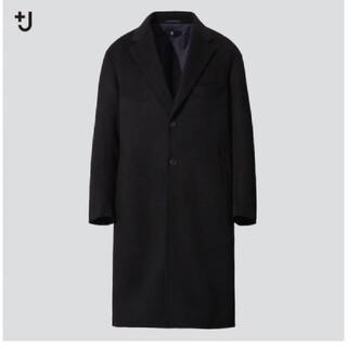 ジルサンダー(Jil Sander)の【値下げ】UNIQLO+J カシミヤブレンドオーバーサイズチェスターコート L(チェスターコート)