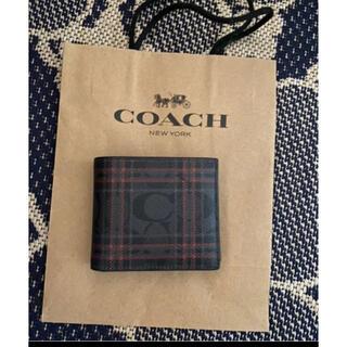 コーチ(COACH)のコーチ★coach★二つ折り財布★パスケース付き(折り財布)