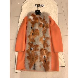 フェンディ(FENDI)のFendi オレンジピンク ファーコート 極美品🌸(毛皮/ファーコート)