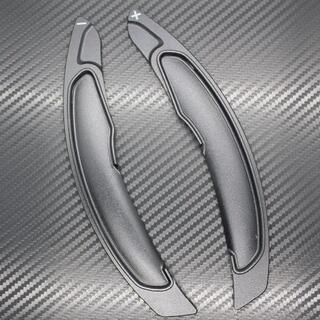 ミツビシ(三菱)の新型 デリカ パドルシフト カバー エクステンション 黒 ブラック(車内アクセサリ)