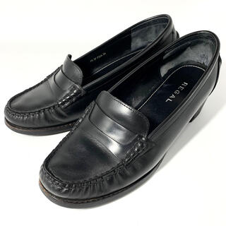 REGAL - REGAL ヒールアップローファー レディース 通勤 革靴 黒 24cm