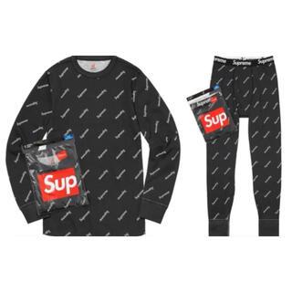 シュプリーム(Supreme)のSupreme Hanes thermal crew & pant セット(Tシャツ/カットソー(七分/長袖))