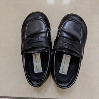 【キッズ ローファー】 黒 16cm(ローファー)