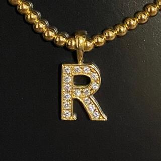 アイファニー(EYEFUNNY)のeyefunny アイファニー 18k ダイヤモンド ナンバー R ネックレス(ネックレス)